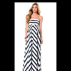 Jessica Simpson Maternity Chevron Maxi Dress Small